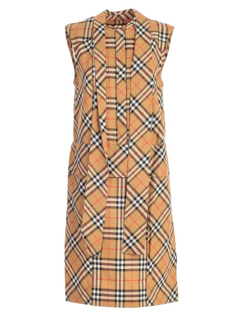 Burberry Tie-neck Dress