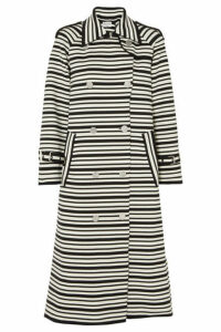 Sonia Rykiel - Striped Cotton-blend Coat - Black