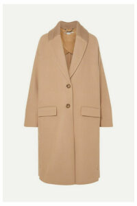 Stella McCartney - Knit-trimmed Wool Coat - Camel