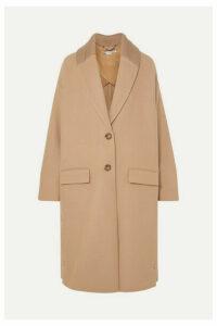 Stella McCartney - Knit-trimmed Wool Coat - Camel