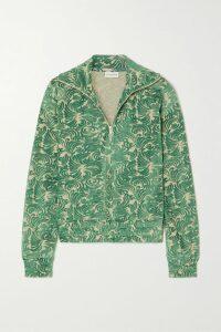 Miu Miu - Appliquéd Leopard-print Denim Mini Skirt - Brown