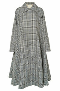 MM6 Maison Margiela - Oversized Checked Wool-blend Coat - Gray
