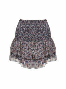 Isabel Marant étoile Floral Print Ruffled Skirt