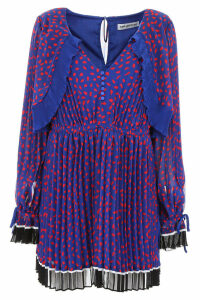 self-portrait Pleated Dress With Polka Dots