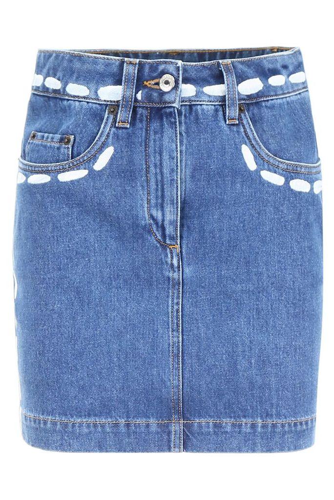 Moschino Printed Denim Skirt