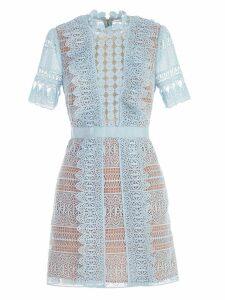 self-portrait Spiral Laced Mini Dress