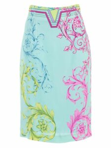Versace Collection Printed Pencil Skirt