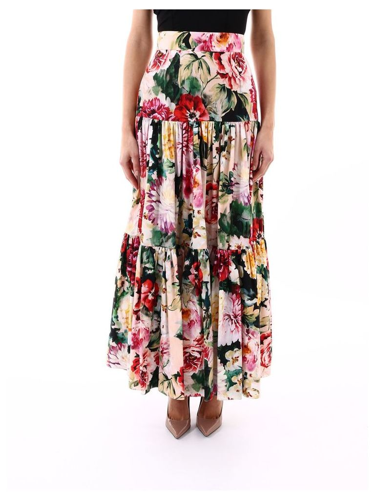Dolce & Gabbana Mix Rose Skirt