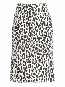 See by Chloé Animal Print Pencil Skirt