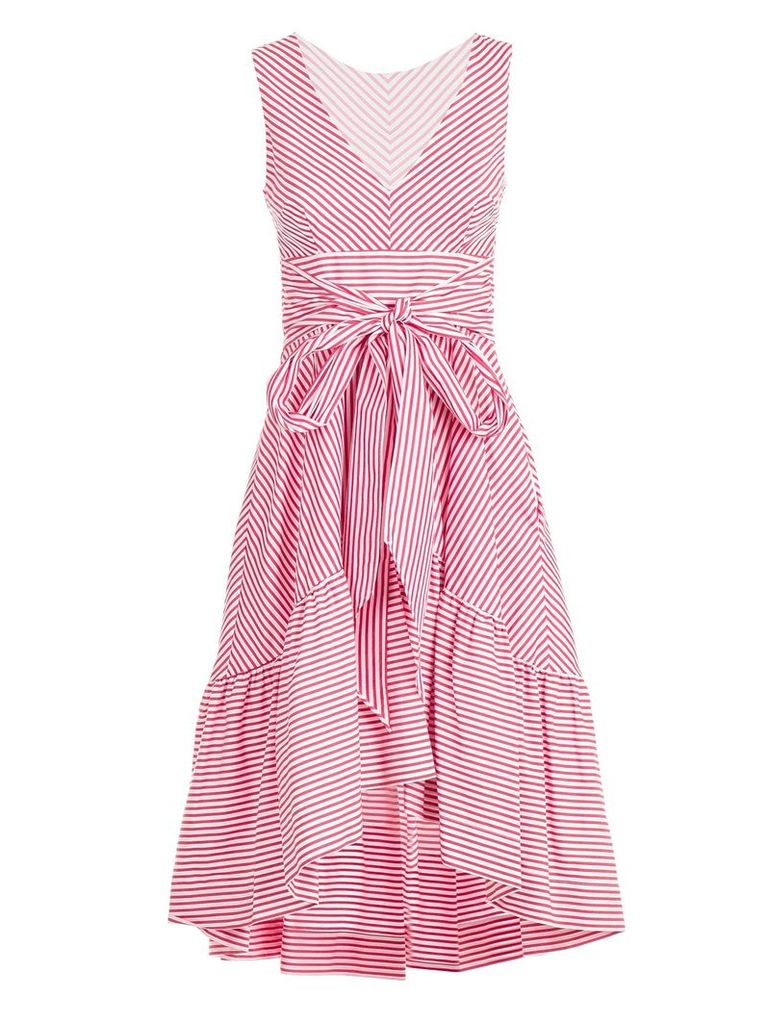 P.a.r.o.s.h. Striped Bow Tie Detailed Dress