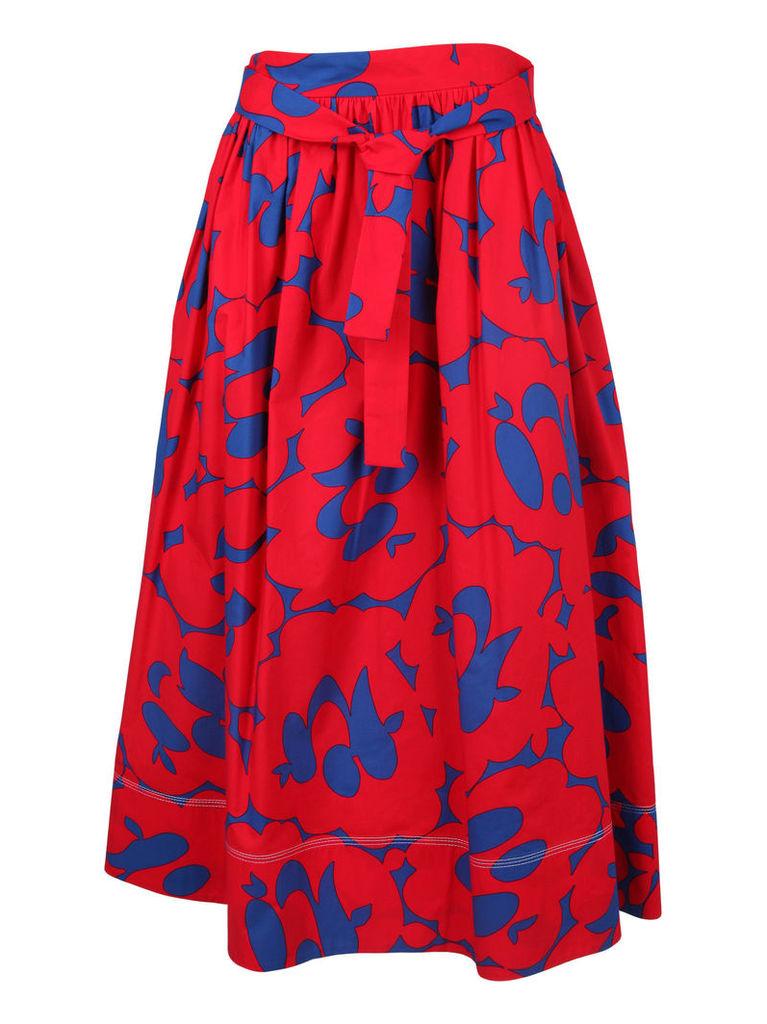 Marni Printed Midi Skirt