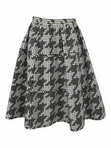 Bottega Veneta Houndstooth A-line Skirt