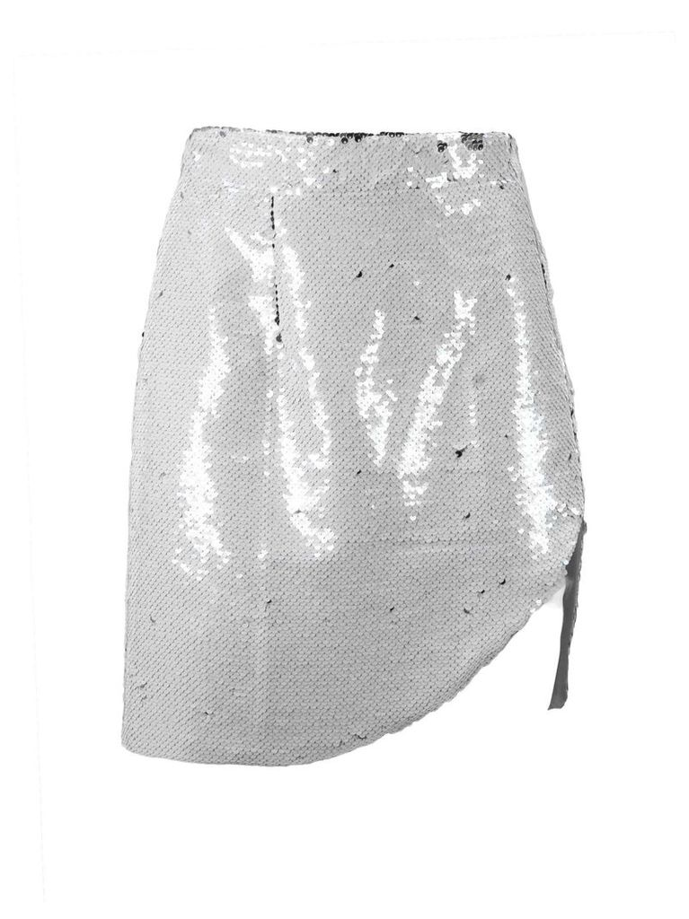Amen Silver-tone Sequin Skirt