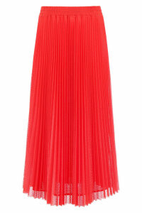 RED Valentino Perforated Plissé Skirt