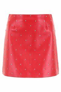 Miu Miu Studded Leather Mini Skirt