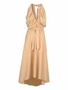 Chloe Chloé Draped Flared Midi Dress