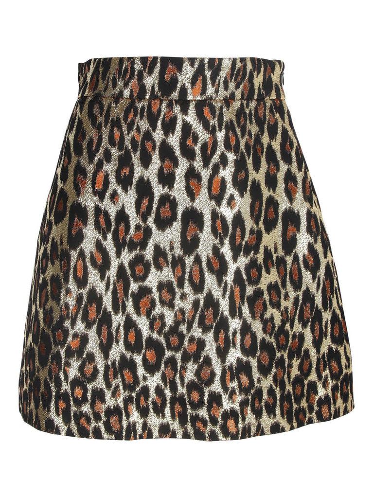 Miu Miu Leopard Skirt