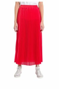 RED Valentino Mesh Pleated Skirt