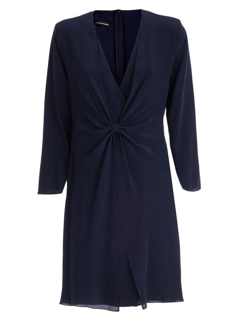 Emporio Armani Oversized Fitted Silhouetted Dress