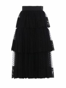 Dolce & Gabbana Pleated Cascading Skirt