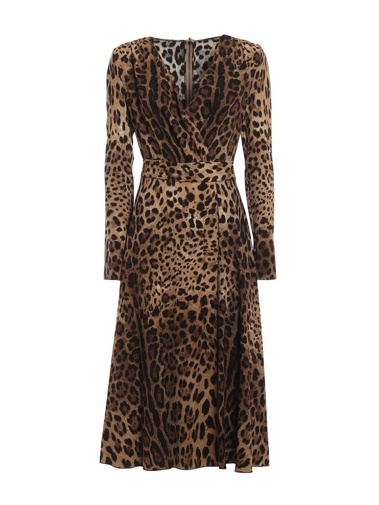 Dolce & Gabbana Leopard Flared Dress