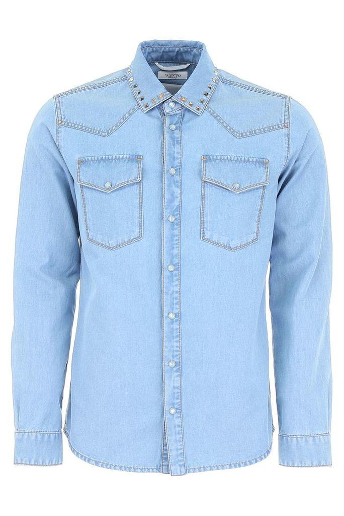 Valentino Rockstud Untitled Western Shirt