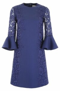 Valentino Crepe And Lace Dress