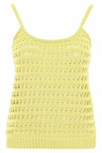 Prada Crochet Top With Logo On The Back