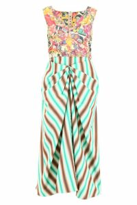 Marni Stripes And Flowers Dress