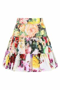Dolce & Gabbana Floral Printed Skirt