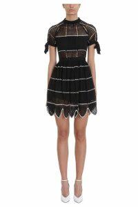 self-portrait Crochet Scallop Mini Dress