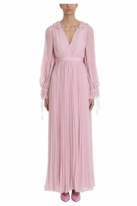 self-portrait Pink Maxi Chiffon Dress