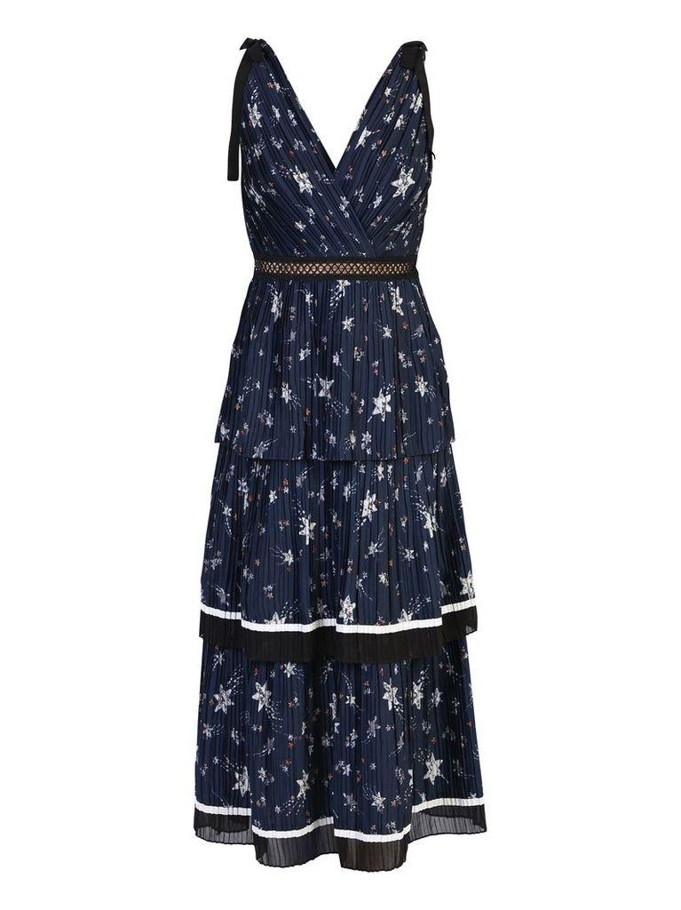 self-portrait Blue Midi Dress