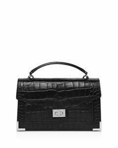 The Kooples Emily Small Croc-Embossed Shoulder Bag