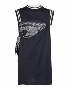 Sacai Bandana Detailed Short Dress