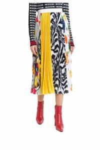 MSGM Pleated Multi-print Skirt