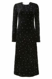 Miu Miu Velvet Dress With Crystals