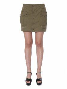 Saint Laurent Cargo Short Skirt