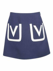 Valentino V Detail Skirt
