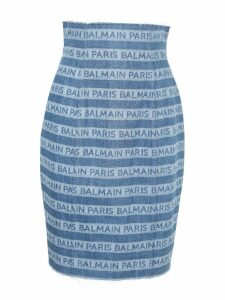 Balmain Logo High-waisted Skirt