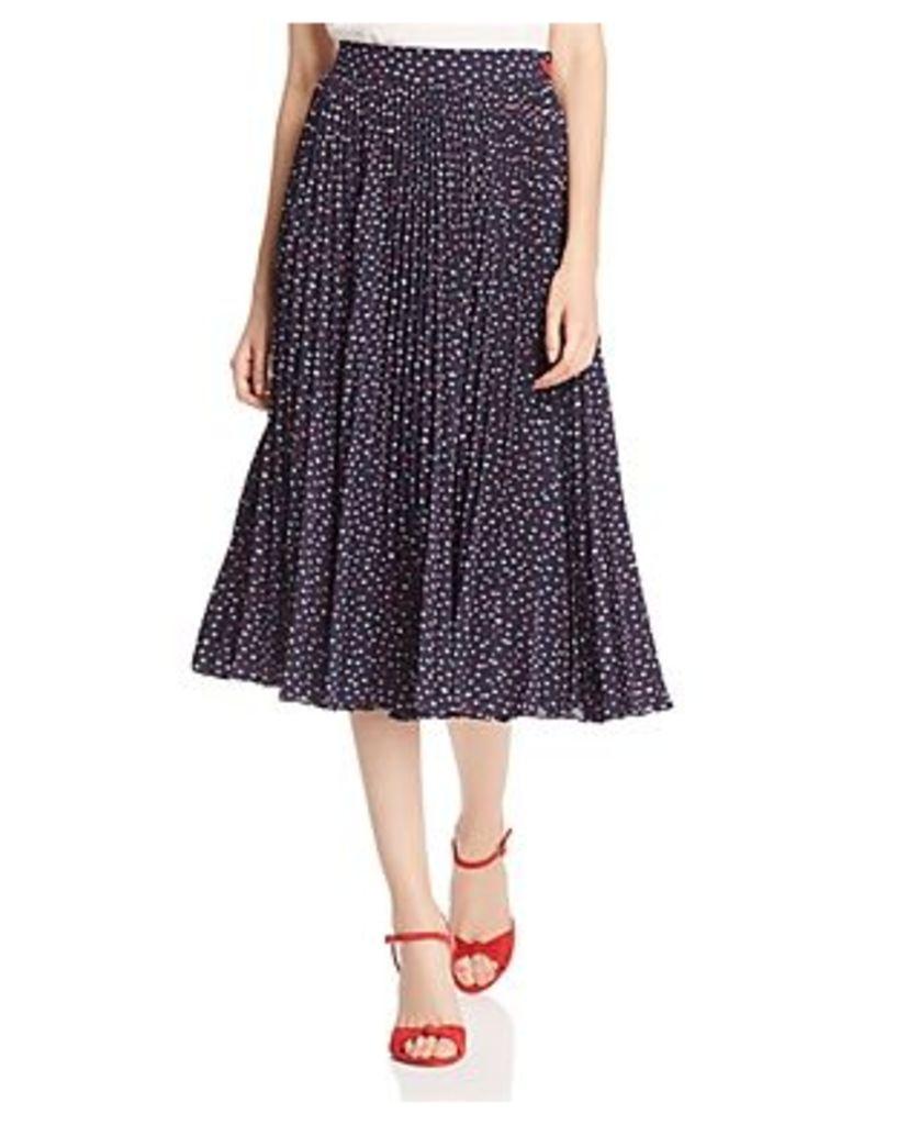 kate spade new york Pleated Lip Print Skirt
