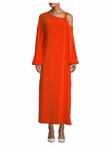 Shontae Knot Crepe Maxi Dress