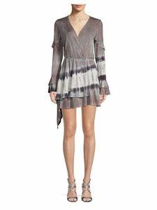 Bayberry Ruffled Asymmetrical Mini Dress