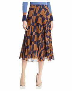 Boss Matara Geo Print Pleated Skirt