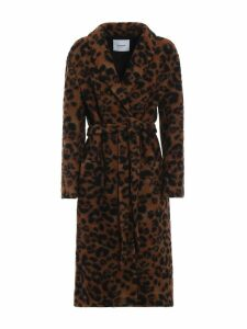 Dondup Animal Print Long Coat
