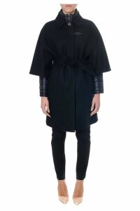 Fay Black Double Layer Cashmere Coat