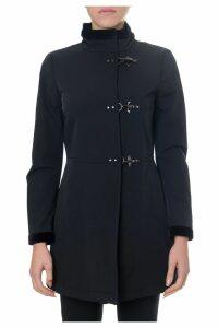 Fay Fay Black Hooked Coat