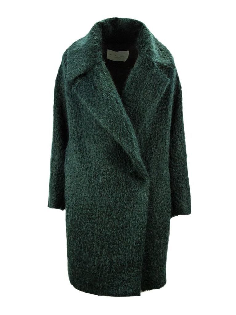 Fabiana Filippi Green Oversized Single Breasted Coat.