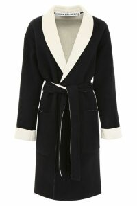 Alexander Wang Coat With Logo Intarsia