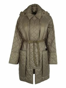 Burberry London Diamond Quilted Hooded Coat